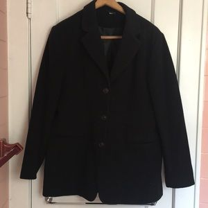 Wool/cashmere British pea coat